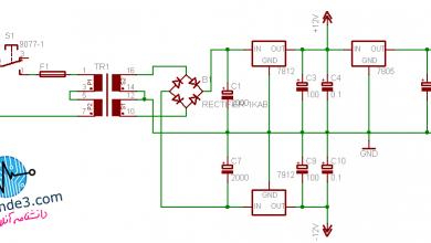 تصویر از تولید ولتاژ منفی با ترانس سه سر