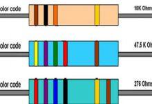 تصویر از تشخیص مقدار مقاومت از روی رنگ آن ( 4 رنگ – 5 رنگ – 6 رنگ )