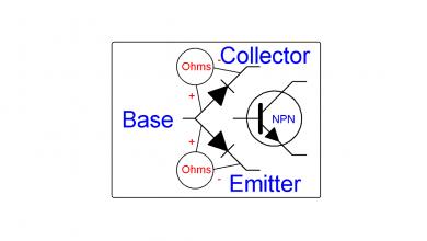 تصویر از تست ترانزیستور های BJT و تشخیص پایه های آن